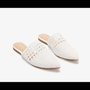 Express Woven Pointed Toe Mules size 6